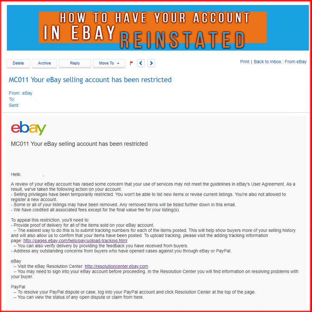 What To Do When We Receive Mc011 Your Ebay Selling Account Has Been Restricted Dropshipping With Tsvetan Radushev